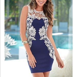 Venus lace detail dress